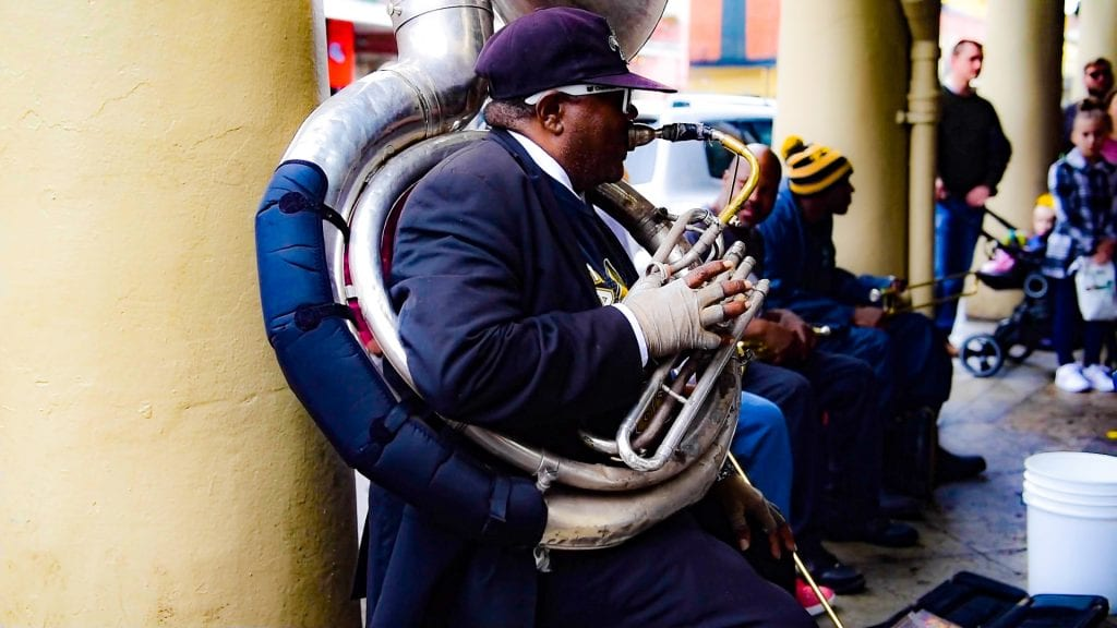 jazz plater on the streets of New Orleans